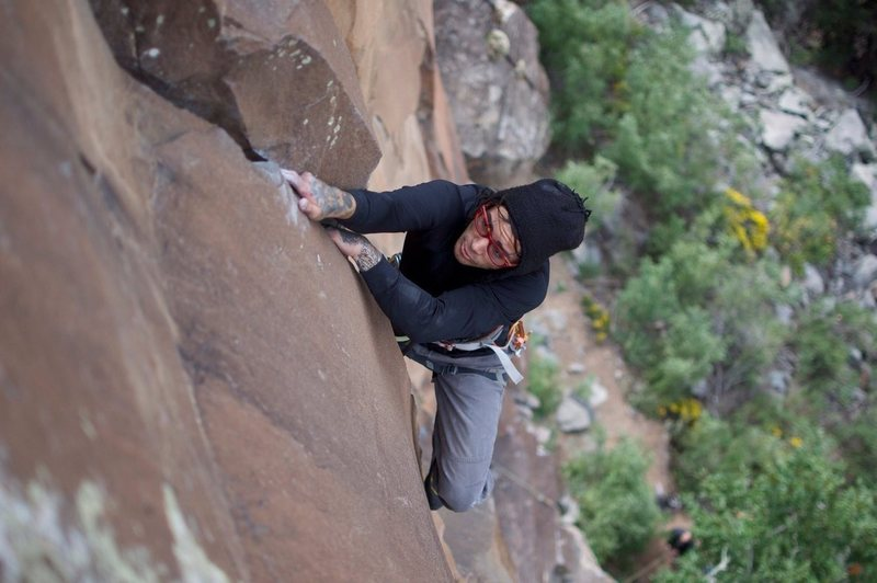 Styling the top crux...