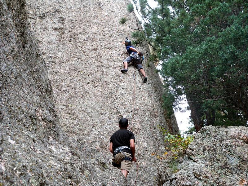Climbing Going to Chapel.