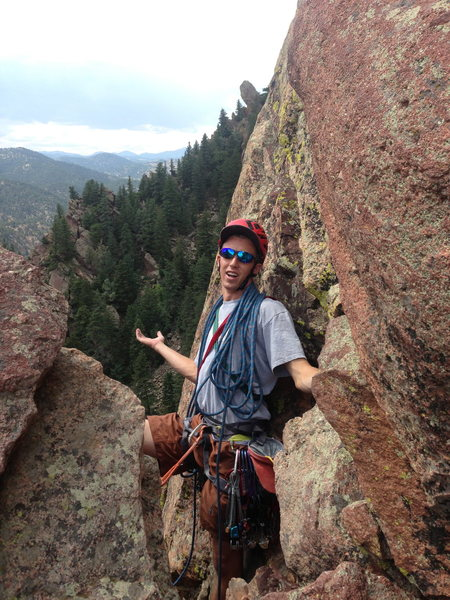 Rock Climbing Photo: at the rap from yellow spur