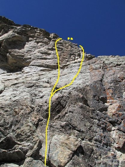 Rock Climbing Photo: Two new routes on the right side of MCD. Sita is t...
