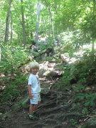 Rock Climbing Photo: hurry up old man