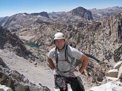 Rock Climbing Photo: High on the Incredible Hulk, High Sierra's CA