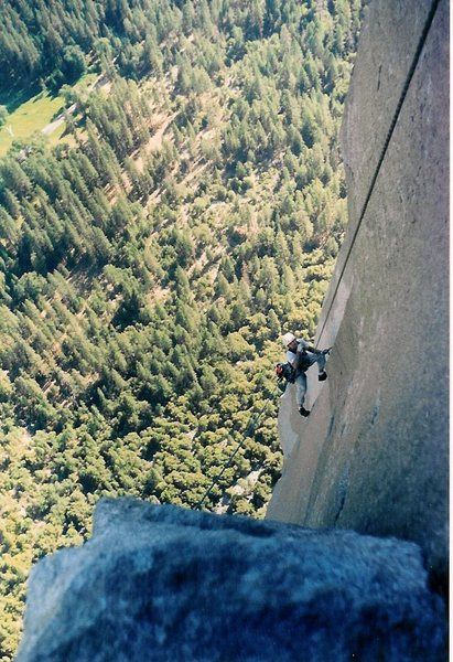 Rock Climbing Photo: The Nose, King Swing Yosemite CA