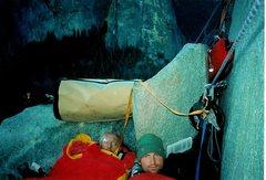 Rock Climbing Photo: Bivy on El Cap with my good friend Rich Rice, Yose...