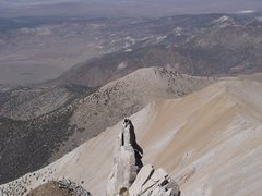 Rock Climbing Photo: Boundry Peak NV Free-solo