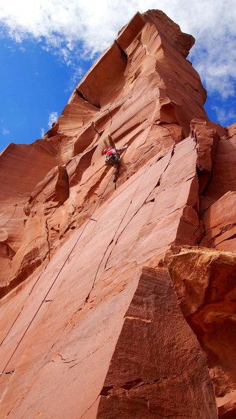Rock Climbing Photo: Danny leading P1 of LBC