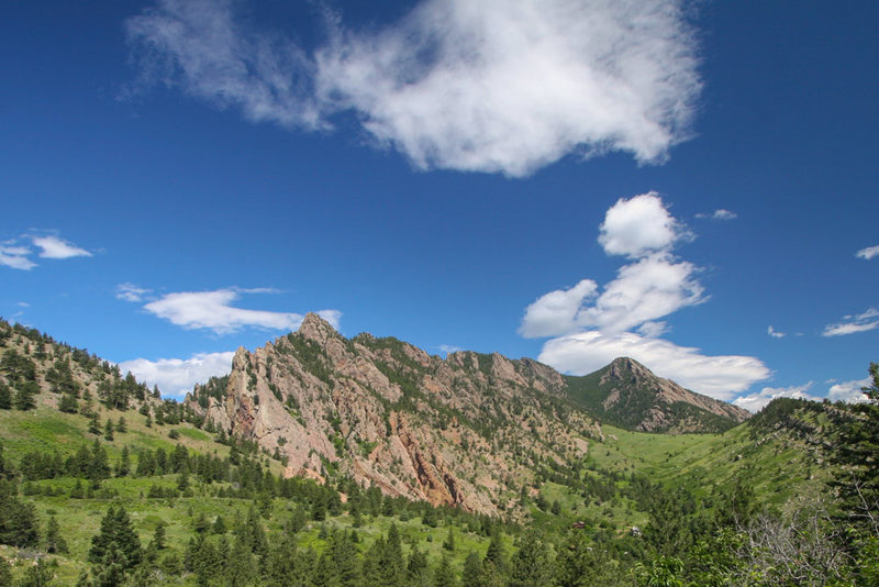 Bear Peak and the southern Flatirons.