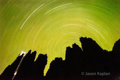 Rock Climbing Photo: The idea is a star trail topo of stolen chimney. I...
