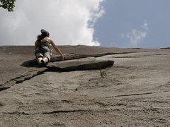 Rock Climbing Photo: My Wife having Fun at Stone Mountain