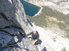 Rock Climbing Photo: wife Having fun on Tenaya Peak