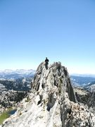 Rock Climbing Photo: Wife having fun on Matthes Crest