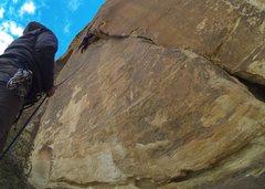 Rock Climbing Photo: An awkward start leads to increasingly fun climbin...