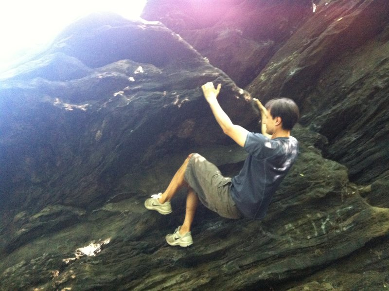 Rock Climbing Photo: Attempt on Strawberry Rock