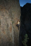 Rock Climbing Photo: Moving to the 3rd Bolt