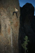 Rock Climbing Photo: Finishing up on later ascent of Rapa Nui!