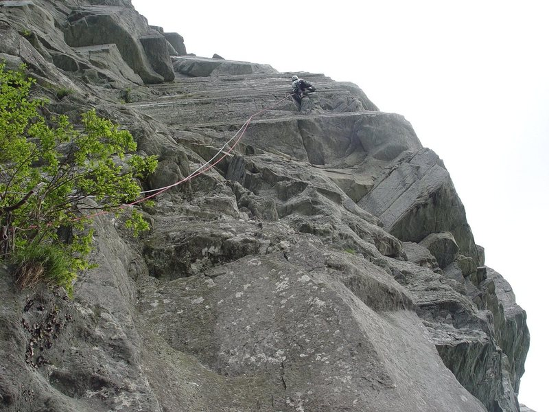 Rock Climbing Photo: Having fun on Ship Rock