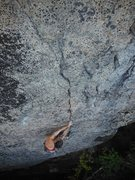 Rock Climbing Photo: Lower Part of Steady Yeti, NE Crags Photo by Amy C...