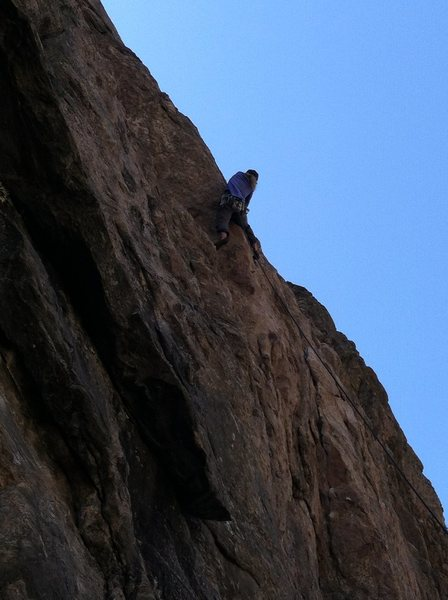 Eva on the crux of Footloose.