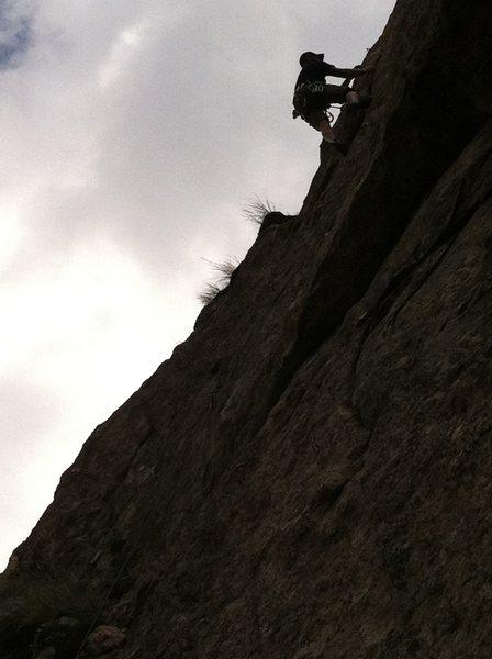 Steve Thomas leading the Eiger Sanction.