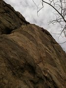 Rock Climbing Photo: Ryan Anderson leading Ben Dover.
