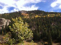 Rock Climbing Photo: A beautiful day in Autumn.