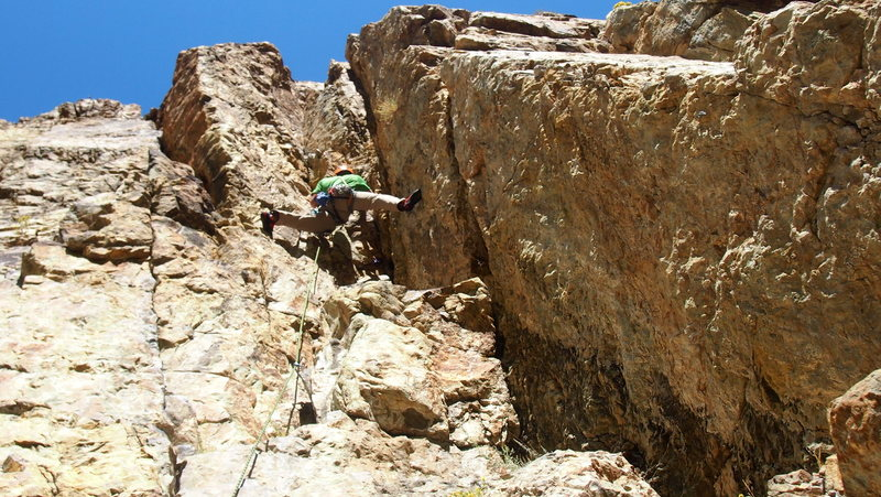 Rock Climbing Photo: You can't see the initial crack section below, but...