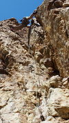 Rock Climbing Photo: This climb is very steep (slightly overhanging). E...