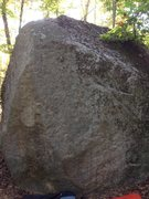 Rock Climbing Photo: Here I Am, V1-2.  Start down low against wall on r...