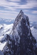 Rock Climbing Photo: Mt Waddington main summit from NW peak For scale 3...