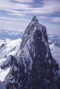 Rock Climbing Photo: Waddington main summit from NW peak. Don Munday, e...