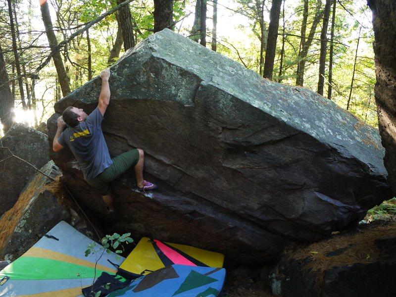 Rock Climbing Photo: Steve.  Fun problem.