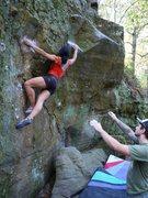 Rock Climbing Photo: Katie.  So strong.