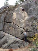 Rock Climbing Photo: A fun lead on Deception Crack.