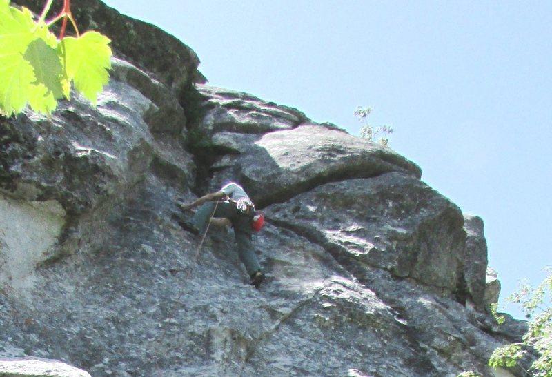 "Rock Climbing Photo: Ralph low on Raindance, a City of Rocks ""Clas..."