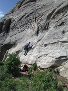 Rock Climbing Photo: The start in common with Cowboy Route, Cowgirl Rou...