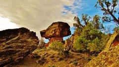 Rock Climbing Photo: North face of Mushroom Rock.