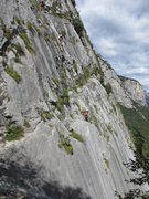 Rock Climbing Photo: Climbers on Placche Zebrate slabs.