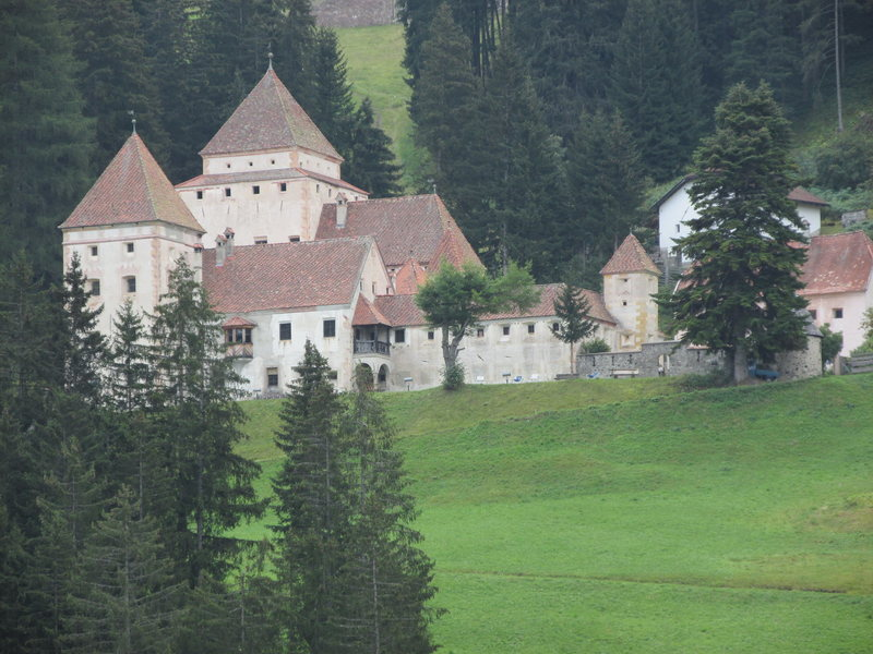 Many magnificent old castles dot the landscape@SEMICOLON@ this is Schloss Fischburg in St. Cristina, Groednertal.