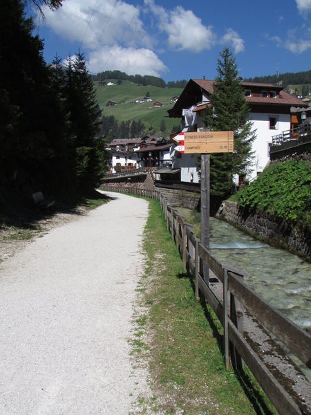 "Rock Climbing Photo: A scenic ""Wanderweg"" through Wolkenstein..."