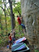 Rock Climbing Photo: Colin sending Nameless Arete