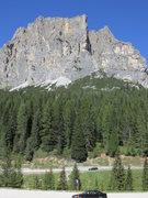 Rock Climbing Photo: Spigolo col dei Bos is in the center.