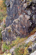 Rock Climbing Photo: Kane Schutzman on AWOL.  Photo credit: Karl Kraus