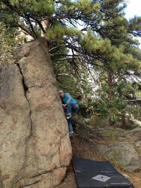 Rock Climbing Photo: AP getting her slab on.