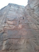 Rock Climbing Photo: Rapping from second pitch anchors. Deep Voodoo is ...