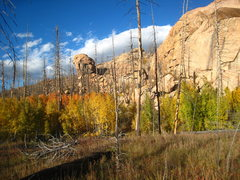 Rock Climbing Photo: Quarry Wall and aspen basking in the evening light...