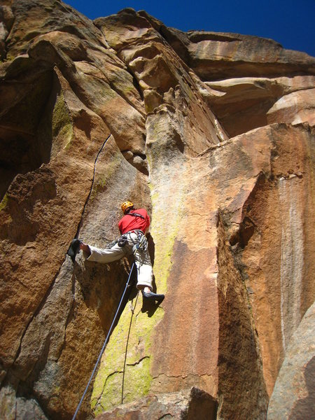 This amazing route throws in a little of every style of climbing imaginable.