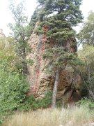 Rock Climbing Photo: Cobblestone Cockamamie Taken from the road near th...