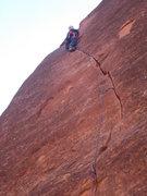 "Rock Climbing Photo: ""Working Class Hero"", harder than it loo..."