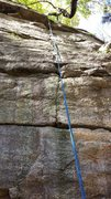 Rock Climbing Photo: Upper section, past the crux