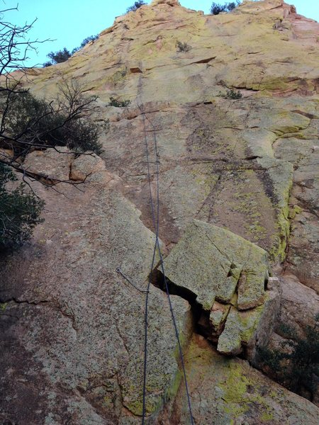 Rock Climbing Photo: Pitch 1 from the ground.